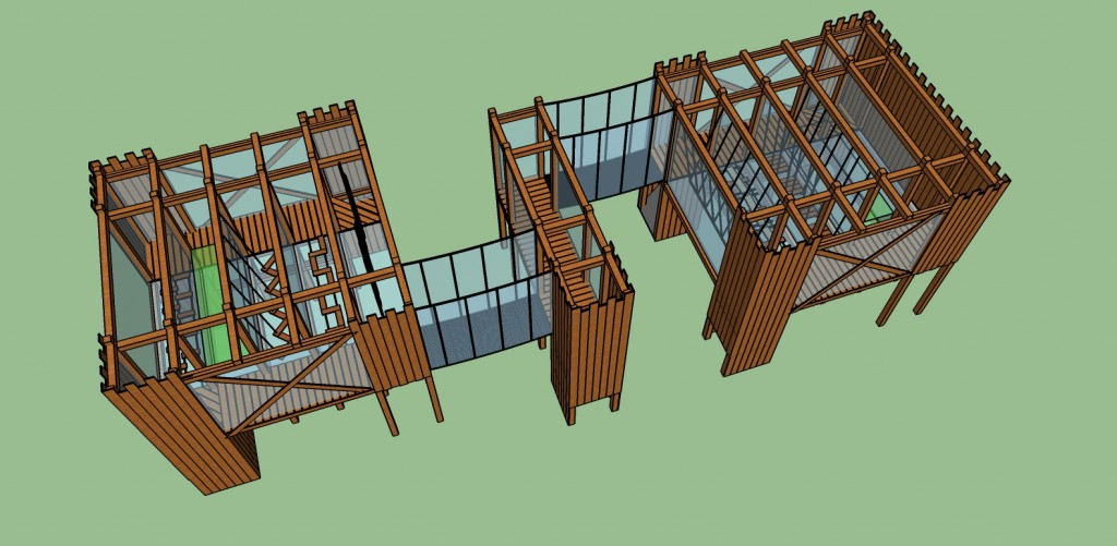 Composition de 3 modules Acrocabane®