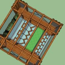 acrocabane 6x6 vue de haut