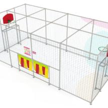 modèle de terrain multisport extérieur en phase 3D