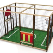 modèle de terrain multisport intérieur en phase 3D