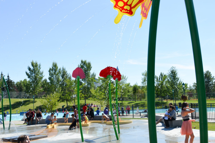 Upper Play, jets d'eau Waterplay
