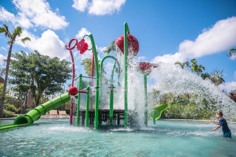 Upper Play, toboggan aire de jeux aquatique waterplay